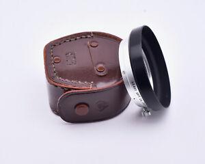 Rare Pentax Asahi Optical Co Takumar f/4 35mm Metal Lens Hood with Case (#8306)