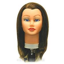 Celebrity Sam II Manikin BROWN Cosmetology Head 100% Human Hair FREE SHIPPING