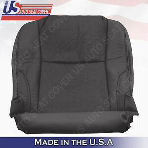 Fits 2006 2007 Lexus IS 350 Passenger Bottom Seat Cover-Perforated Leather-Black