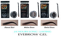 Eyebrow Gel + Brush Waterproof and Smudge proof Formula 24 Hours Long Lasting