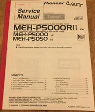 PIONEER MEH-P5000RII P5000 P5050 CD/MD MINIDISC ORIGINAL SERVICE REPAIR MANUAL