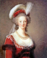 Marie Antoinette Queen Of France Portrait Painting Fine Art Real Canvas Print
