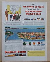 1939  magazine ad for Southern Pacific - see Golden Gate Int. Exposition in SF