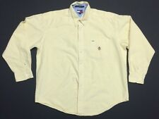 Vintage Tommy Hilfiger Button Up Shirt Men's Size XL Yellow VTG