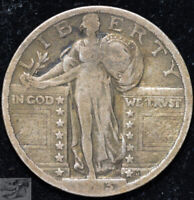 1923 Standing Liberty Quarter, Fine Condition, Silver, Free Shipping, C5070