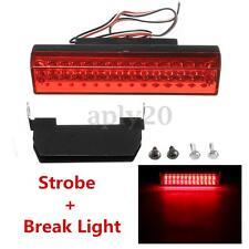 Universal Car High Mount Light Brake Warning Strobe Tail Lamp Red LED 12V 5W US