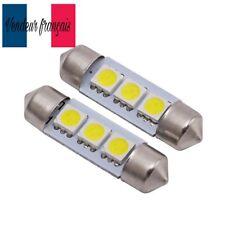 2 NAVETTE LED 42 mm AMPOULE C5W 42mm BLANC XENON  6000k