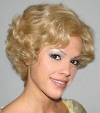BETH WIG BLONDE BROWN BLACK HUMAN HAIR WOMAN SHORT WAVY CURLS CURLY WIG 2135
