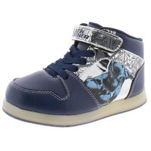 Marvel Boys Black Panther Navy High Top Sneakers 12 Medium (D) Little Kid 8256