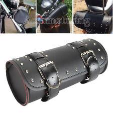 Black Forks PU Tool Saddle Bag For Honda Shadow VT ACE Aero Spirit VLX 600 750