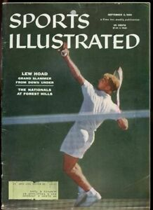 SI: Sports Illustrated September 3, 1956 Nationals at Forest Hills Lew Hoad G