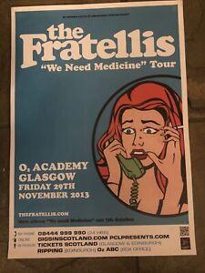 The Fratellis- Rare Concert/Gig poster, Glasgow, November 2013