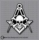 Skull and Cross Bones Square Compass Mason Masonic Freemason decal sticker
