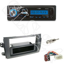 Caliber RMD055 USB/SD Radio +Fiat/Suzuki 2-DIN Blende mit Fach black+ISO-Adapter