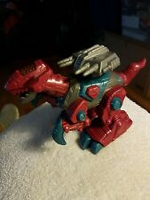 """Kids Happy Toys Red 7"""" Dinosaur Action Figure Lights Sounds Roars"""