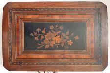 Grande boite meuble de rangement en bois et marqueterie 18e siècle / 19e