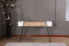 Modernique INTERO Console Table Living Room Corridor Furniture Glass MDF White