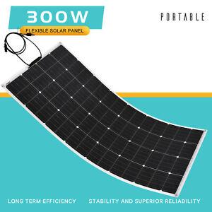 300W Flexible Solar Panel 12V Caravan Boat Camping Portable Power Mono Charging