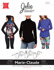 Jalie 3667 Marie-Claude Fitted Long Sleeve Raglan Pullovers Sewing Pattern