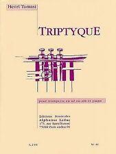 Triptyque : Pour trompette en ut ou si bémol et piano - Tomasi
