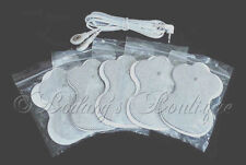 OMRON PM3030 - Compatible Lead Cable/Electrode Wire w/ 4 ELECTROTHERAPY PADS