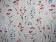 "SANDERSON CURTAIN FABRIC DESIGN ""Butterfly Garden"" 3.1 METRES CREAM/RED/BLUE"
