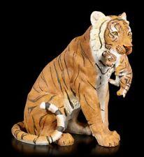 Figura de jardín - Tigre Mamá con bebé en Maul - Depredador tigrecillo GATO