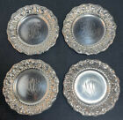 Set Of 4 Whiting Aesthetic Sterling Silver Nut Dishes   Butter Pats  2388