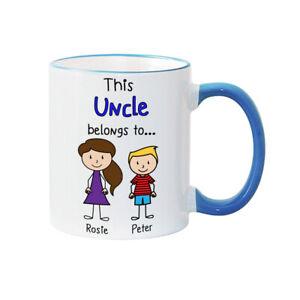 Uncle Mug Uncle's Family Mug Personalised Mug Fathers Day Mug Uncle gift