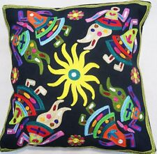 Fine Indian Embroidered Cushion Covers - Garba
