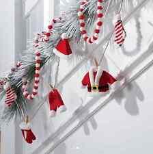 "RAZ Imports ~ Santa Clothes Christmas Tree Garland ~ 104""  ~ G3616402 NEW Mantle"