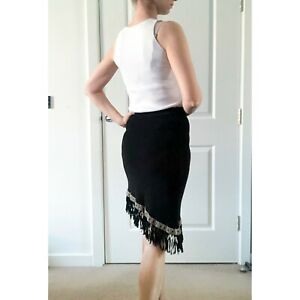 Vintage 90s Rectangle Blanc Paris Asymmetric Skirt Size S