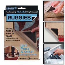 NEW Ruggies Set Of 8 Rug Grippers   AS SEEN ON TV   Washable, Reusable