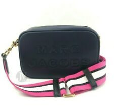 Marc Jacobs Flash Black Leather Crossbody Camera Bag