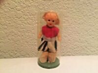 """Celluloid Dutch Girl Mini 2.25"""" Germany Vintage 1940's Doll in Original Capsule"""