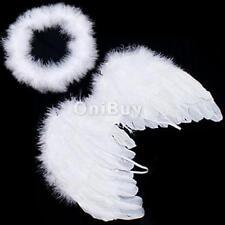 Ailes d'ange en plumes blanches et couronne pour bébe 6-18 moi