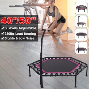 40/50 inch Fitness Trampoline Rebounder With 3 Levels Adjustable Handle  z z