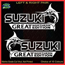 SUZUKI stickers accessories Car MX Funny decal GREAT NORTHERN 200mm PAIR