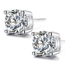 faee19cab823 Aretes De Plata 925 Para Mujer Women 5mm Earrings Moda 2018 Cubic Zirconia  Mejor