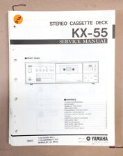 Yamaha KX-55 Cassette Deck Service Manual *Original*