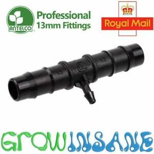 Barbed Reducing Tee 13mm to 4mm Connector Irrigation Pipe Hose Antelco Hozelock