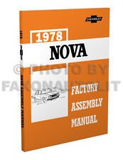 1978 Chevy Nova Factory Assembly Manual 78 Exploded Views Chevrolet LN Custom
