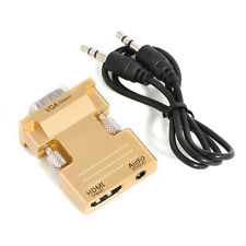 GOLD HDMI Female to VGA Male Converter+Audio Adapter Support 1080P Signal Output