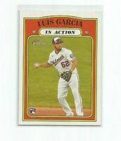 LUIS GARCIA (Washington) 2021 TOPPS HERITAGE IN ACTION ROOKIE CARD #110