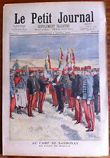 Le petit Journal illustré 7/04/1895; AU camp de Sathonay