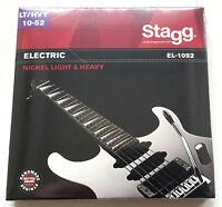 Gitarrensaiten E-Gitarre 010-052 Set Satz Gitare Seiten Stahl Stagg EL1052 LTHVY