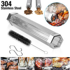"12"" Stainless Steel Outdoor Wood Pellet Grill Smoker Filter Tube Pipe Smoke Bbq"