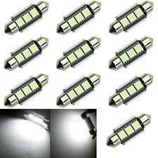 10x 39mm 3-LED 5050 SMD 6418 Canbus Error Free Car Interior Festoon Light Bulb