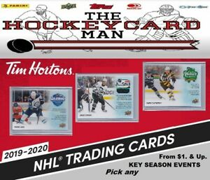 2019-20 U.D. Tim Hortons - KEY SEASON EVENTS - Pick any card From $1.00 & Up...
