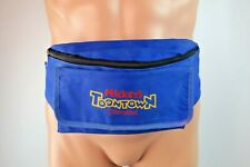 Disney Mickey's Toon Town Fanny Pack Disneyland VTG Two Zipper Pockets Pouch